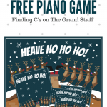 Reinforce C's On The Grand Staff In This Reindeer Rescue Piano Game