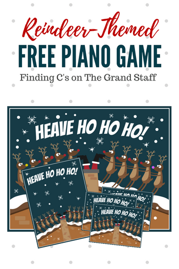This reindeer-themed piano game will delight your beginning note readers as they identify C's on the Grand Staff... while saving Santa! #TeachPianoToday #PianoGame #PianoPrintable #ChristmasPiano