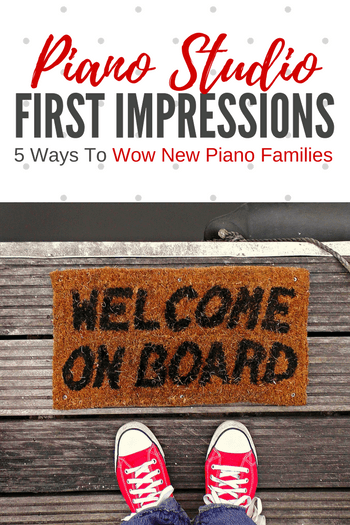 "It's been said that ""you never get a second chance to make a first impression"" and it's true; you have just once chance to amaze piano families who are entering your piano studio for the first time."