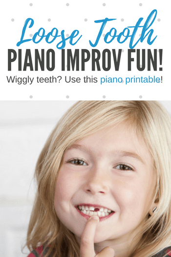 "The next time your student announces a ""wiggler"" or gleefully shows you a brand new, gap-toothed smile, pull out this printable and celebrate the occasion with some improv fun!"