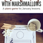 Cozy Up With A Hot Cup Of Note Reading Fun; A DIY Piano Teaching Game