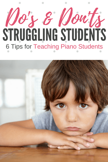 We will all encounter a student who struggles at some point. Often these times of frustration are temporary, but they do have the potential to push a particularly sensitive child over the edge. To get them over the hump and onward to success, keep these 6 tips in mind.
