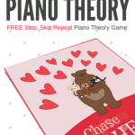 An Adorable Valentine's Day Piano Game To Reinforce Recognition Of Steps And Skips