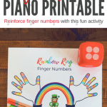 St. Patrick's Day Fun With Finger Numbers; A DIY Activity for Young Piano Students