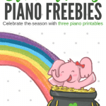 Celebrate St. Patrick's Day With This Piano Printables Pot Of Gold