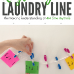 A Laundry Line of DIY Rhythm Fun To Use In Your Studio This Spring