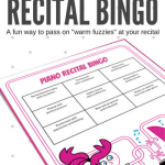 Piano Recital BINGO – A Fun Printable To Pass On The Warm Fuzzies In Your Studio
