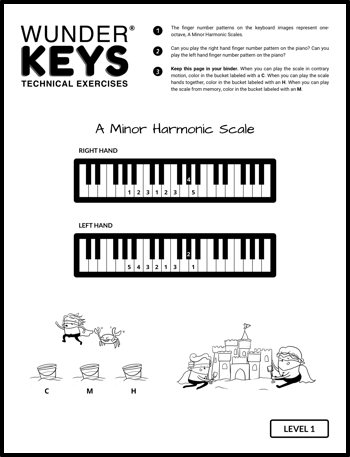 graphic relating to Scales Printable called 12 Scale Printables Toward Increase In direction of Your Summer months Piano Prepare