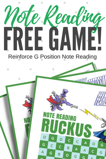 Note Reading Ruckus - A Printable Piano Game To Destroy Note