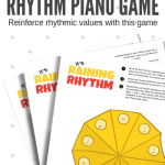 It's Raining Note Values With This Printable Dice Game For Early Elementary Piano Students