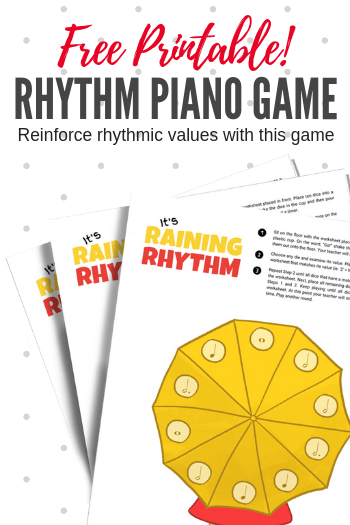 graphic regarding Piano Flash Cards Printable identified as Its Raining Take note Values With This Printable Cube Video game For