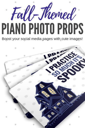 This set of three, FREE piano studio photo props are exactly what you need to keep your piano studio social media pages humming thorough the month of October. Print them out, snap a photo and share the cuteness! #TeachPianoToday #PianoLessons #PianoTeaching #PianoLessons #PianoPrintable