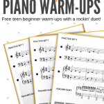 Use These Technical Exercises To Rock Warm-Ups With Your Beginning Teen Piano Students