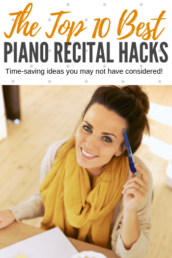 If you're always stressed and feeling chaotic around recital season... these 10 piano recital