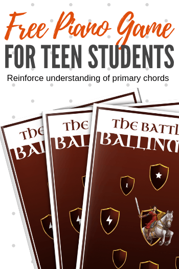 Your teens (and even your adults!) will absolutely love this FREE piano game pack that helps to reinforce understanding of primary chords in minor keys. #TeachPianoToday #WunderKeys #PianoGame #TeenPiano