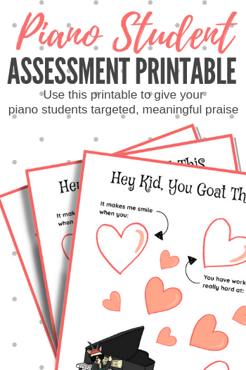 Praising Piano Students The Right Way: A Printable