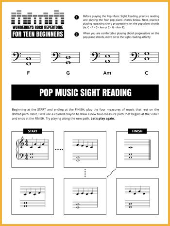 Beginner Teen Sight Reading 1 Pin