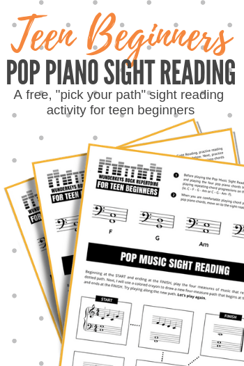 photo about Beginner Piano Lessons Printable known as A Pop Tunes Sight Studying Printable Towards Maintain Commencing