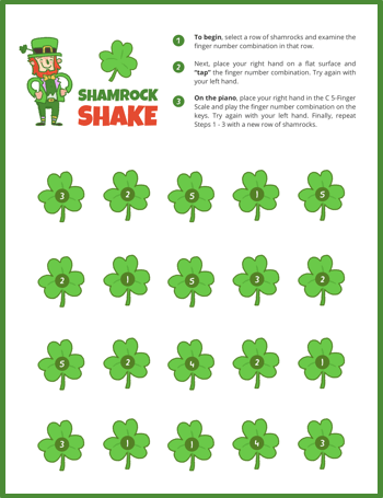 photo relating to Leprechaun Feet Printable known as A St. Patricks Working day Tunes Pack For The 5 Toward 9 Yr Aged