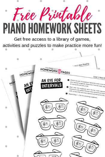 Teach Piano Today Homework Pages - Bringing Fun To Home Practice