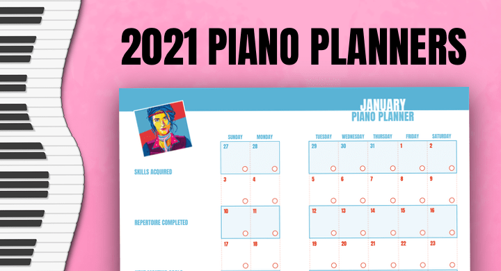 2021 Piano Calendars For Teens