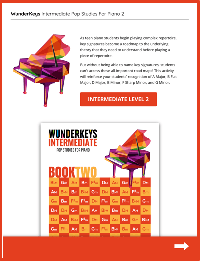 Intermediate Piano Key Signatures