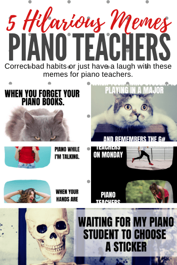 Use These Piano Memes To Correct Bad Habits Or To Just Have A