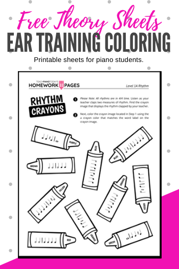 Ear Training Coloring Pages For Primer And Level 1 Students Teach Piano Today