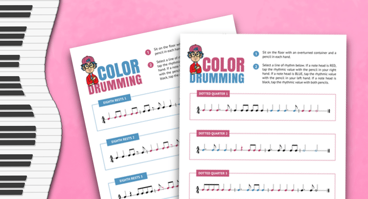 Color Drumming Rhythm Exercises