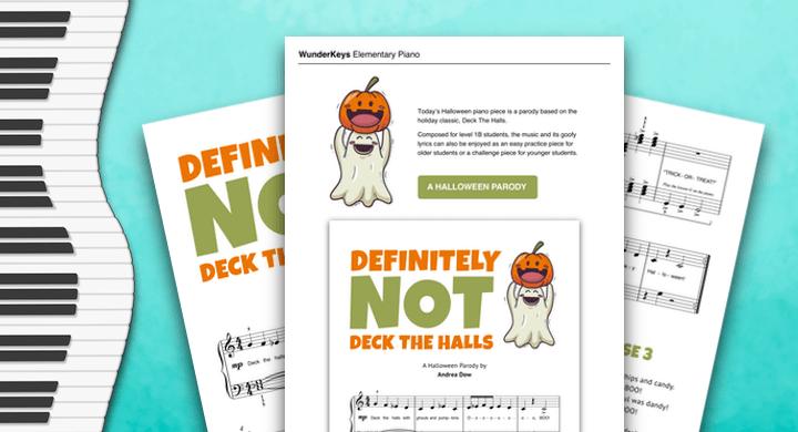 A Halloween Piano Parody