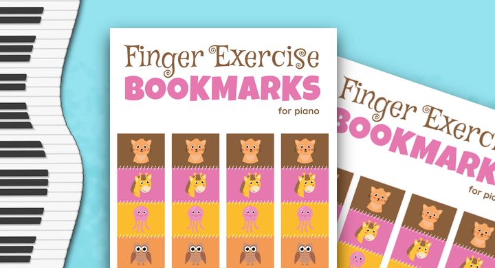 Piano Finger Exercise Bookmarks