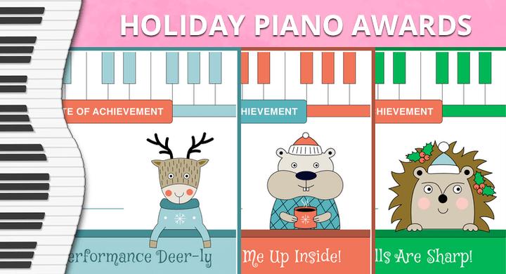 Holiday Piano Award Certificates