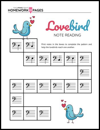 Lovebird Note Reading