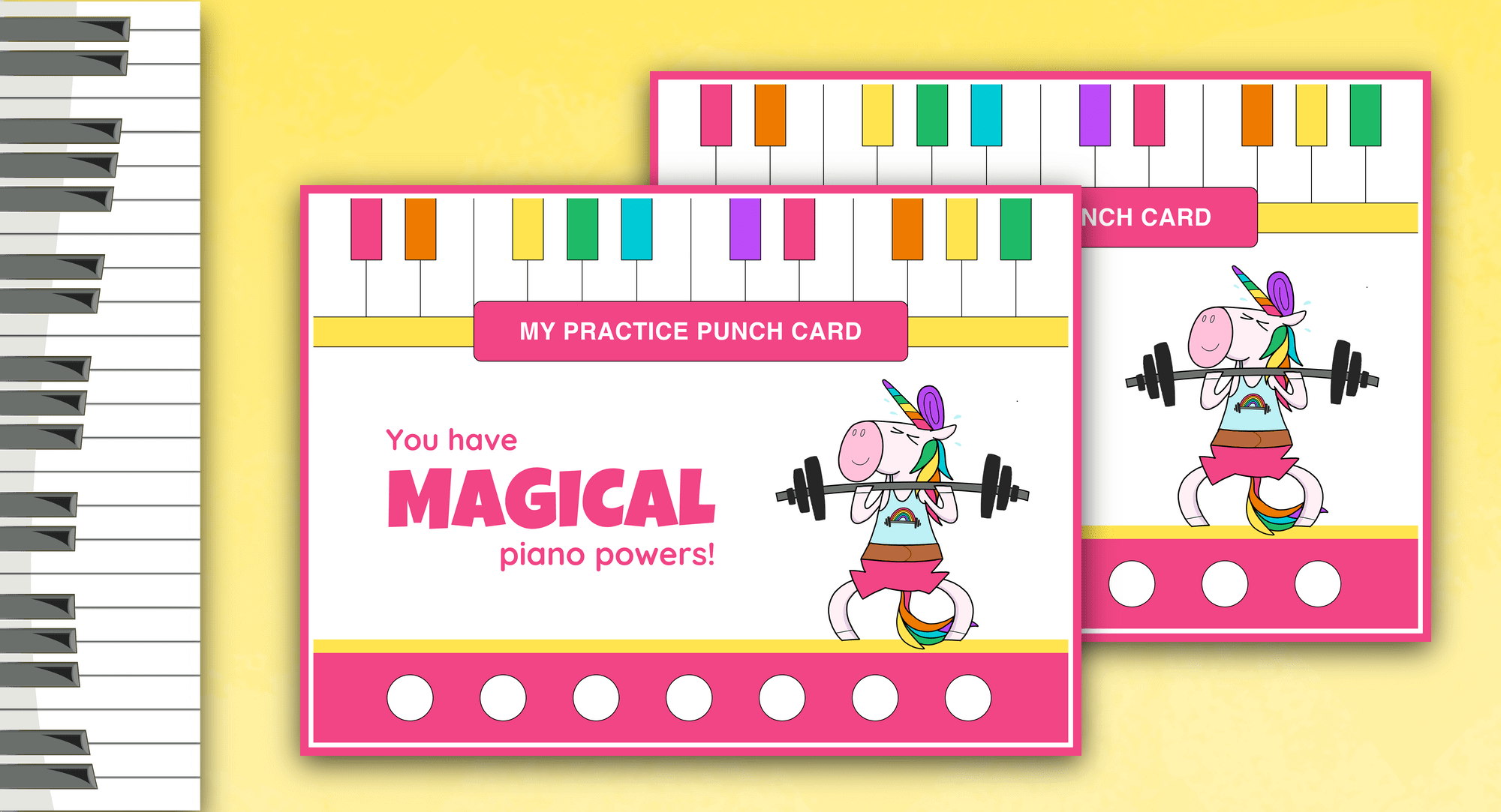 Very Useful Piano Practice Punch Cards