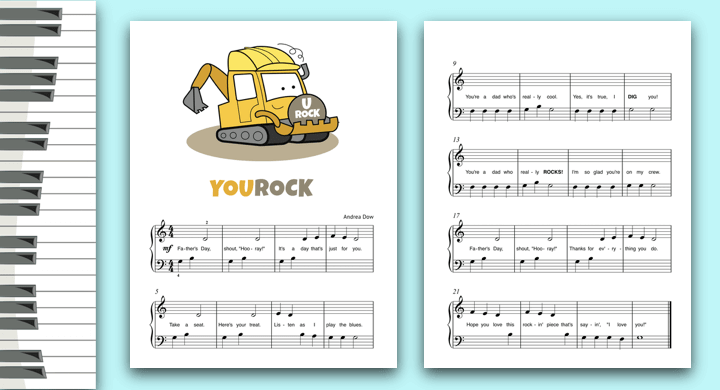 Construction-themed, Father's Day piano solo.