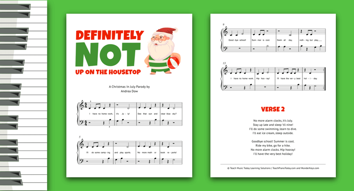 Christmas In July Piano Solo Part 2
