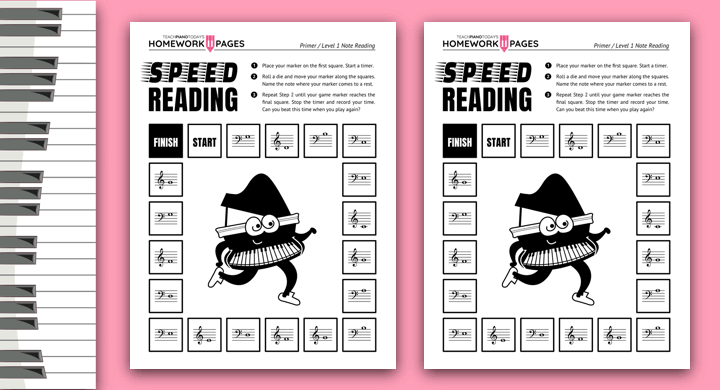 Speed Note Reading Game For Piano