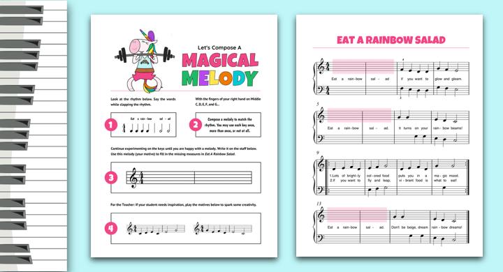 Unicorn Composing For Piano Students